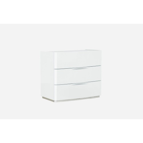 Casa Ellie 3 Drawer Chest With Marble Glass Top