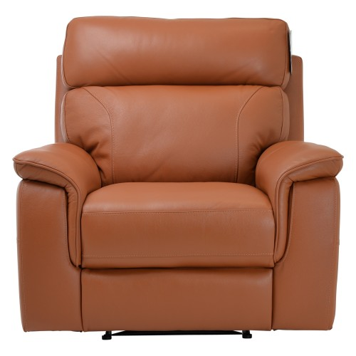 Harry Power Recliner Leather Chair, Brown