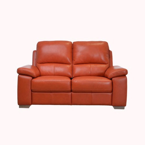 Casa Megan 2 Seater Manual Recliner Leather Sofa, Orange