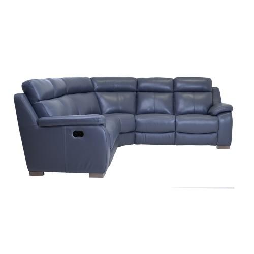 Casa Alabama Leather Corner Group Sofa, Lavender Grey