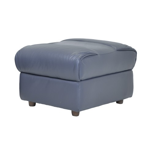 Casa Alabama Leather Footstool, Lavender Grey