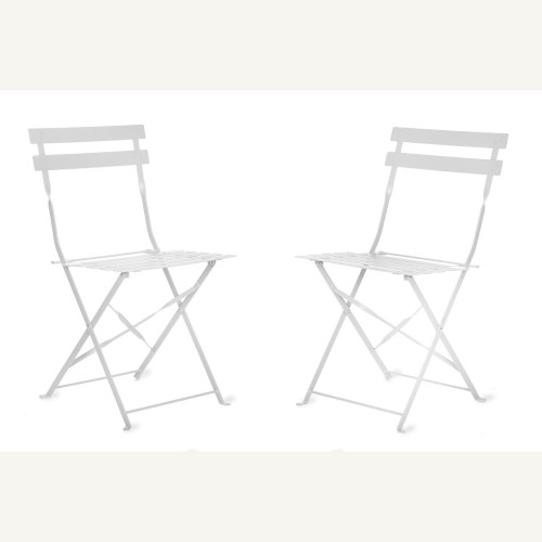 Garden Trading Pair Of Bistro Chairs, Chalk