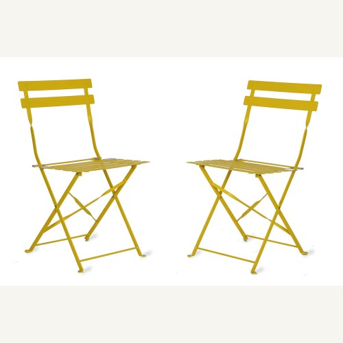Garden Trading Set Of 2 Of Bistro Chairs, Lemon