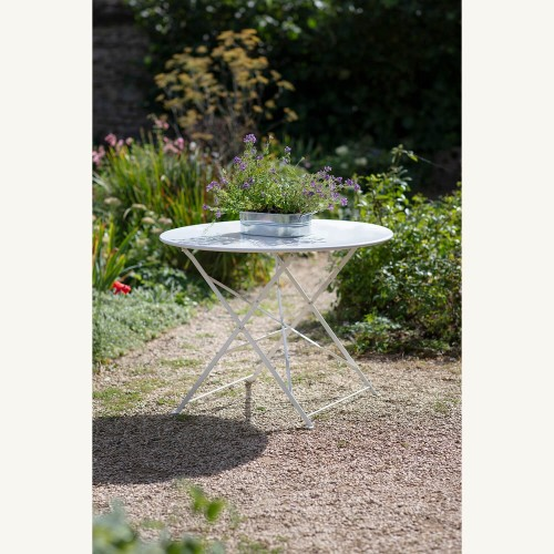 Garden Trading Rive Droite Bistro Table, Large, Chalk