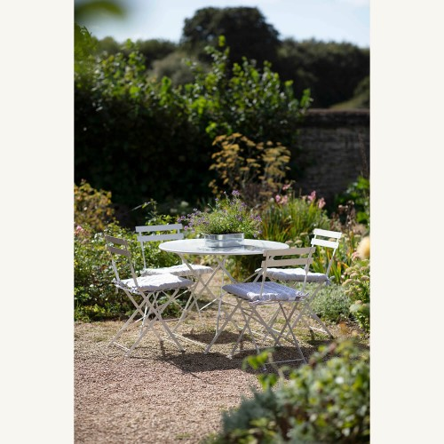 Garden Trading Rive Droite Bistro Set, Large, Chalk