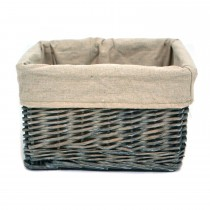 Casa Willow Small Storage Basket, Grey