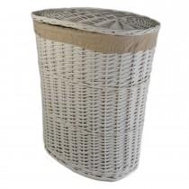 Casa Willow Large Laundry Basket, White