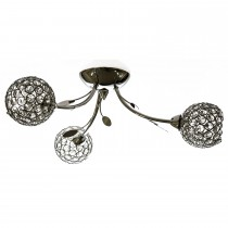 Casa Mirren 3 Light Flush, Chrome