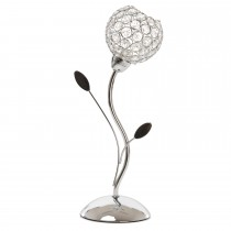 Casa Mirren Table Lamp, Chrome