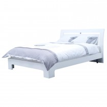 Casa Emily Double Bed Frame, White