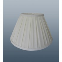 Enya Box Pleat Shade 18'', Cream