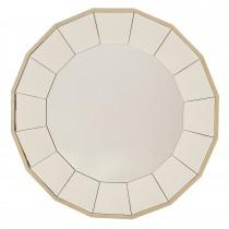 Casa Sonnett Round Mirror, Silver