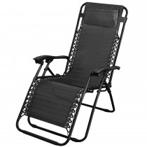 Blackspur Reclining Garden Chair, Black