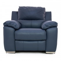 Casa Fiji Power Recliner Chair, Ocean Blue