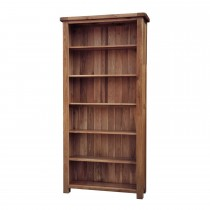 Casa Bordeaux Large Wide Bookcase Bookcase, Oak