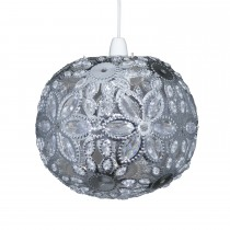 Casa Ashanti Floral Ball Non Electric Pendant, Chrome