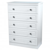 Welcome Pembroke 5 Drawer Chest 5 Draw, White