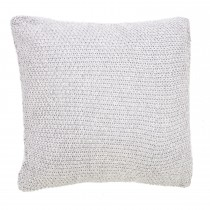 Casa Moss Stitch Cushion 45x45, Grey Marl