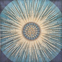 Casa Sun Rays Canvas With Diamantes, Silver