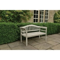 Woodlodge Queen Outdoor Bench, White Wash