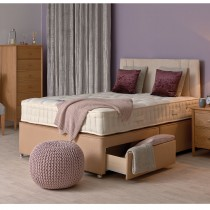 Sleepeezee Backcare Pocket 1000 Double 2 Drawer Divan Set, Mushroom Base