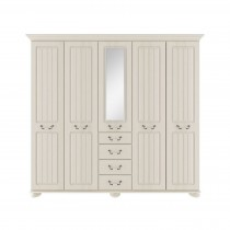 Casa Chloe Tall 5 Door Mirror Wardrobe