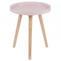 Casa Halston Round Table Small Onesize, Pink