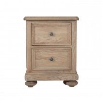 Hunter Two Drawer Bedside Table