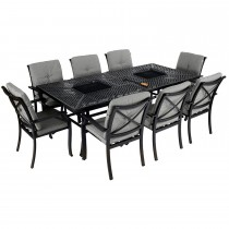 Jamie Oliver Set Feastable 8 Seater Riven, Riven/ Pewter
