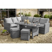 Casa Rectangular Casual Dining Set, Slate/ Stone