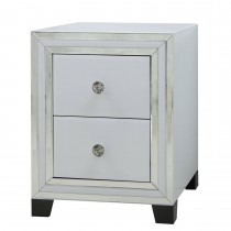 Casa Blanco 2 Drawer Bedside Chest