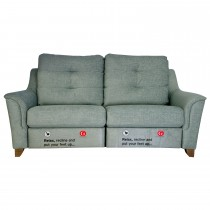 G Plan Upholstery Hepworth 3 Seater Power Rec 3 Seat, C552 Monsoon Marine