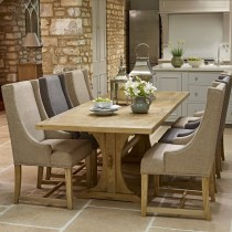 Old Charm Lichfield 6ft Extending Table & 6 Upholstered Chairs