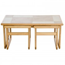 Anbercraft Amber Tile Top Lounge Nest Nest Table