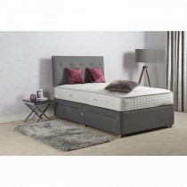Sleepeezee Turin 1400 P/t 4 Drw Set Dbl Double, Pewter