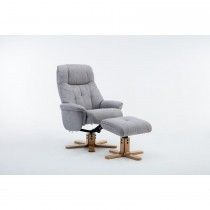 Casa Trento Swivel Recliner & Fs Chair, Lisbon Silver