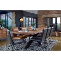 Casa Brixton Table, Bench + 3 Chairs Dining Set