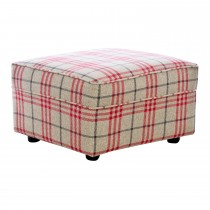 Alstons Lancaster Footstool Footstool, Plaid 7851