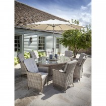 Hartman Heritage Outdoor Elliptical Dining Set, 8 Seater, Dove/ Beech