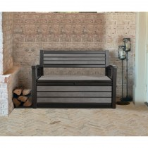 Keter Hudson Garden Storage Bench, 227L, Grey