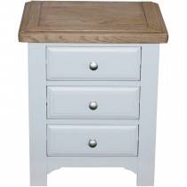 Casa Eden 3 Drawer Bedside Table