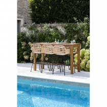 Garden Trading St Mawes Planter Bar Table, Reclaimed Teak