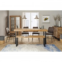 Casa Stockholm Table, Bench & 4 Chair Dining Set