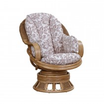Cane Industries Bari Swivel Rocker (full Wrap) Chair