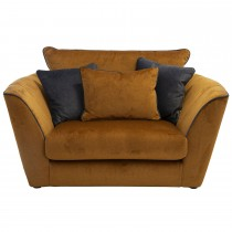 Casa Marlow Trad Bk Snuggler Chair Love Seat, Deluxe Wood/deluxe Charcoal