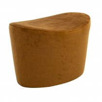 Casa Marlow Saddle Stool Footstool, Deluxe Wood/deluxe Charcoal