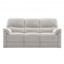 G Plan Upholstery Chadwick 3 Seater Power Recliner Fabric Sofa, Coral Multi