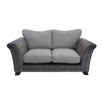 Casa Sophia 2 Seater Standard Back Sofa, Dapple Mink/nickel/antique