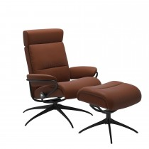 Stressless Tokyo Chair and Footstool , Paloma Copper