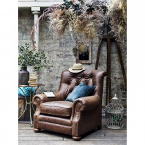 Alexander & James Fable Chair, Weathered Oak/antique Stud